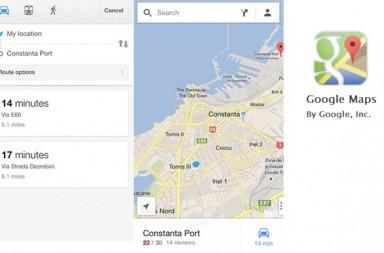 Google maps pentru iPhone