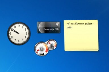Mi-au disparut gadget-urile de pe desktop, in Windows 7