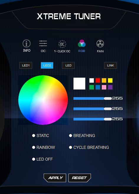 RGB backplate